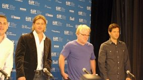TIFF PHOTO GALLERY: Brad Pitt, skinny Jonah Hill and Philip Seymour Hoffman talk money and baseball at the Moneyball press conference