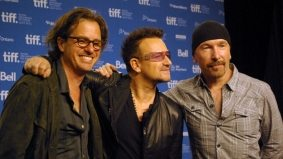 TIFF PHOTO GALLERY: Bono and The Edge get all reflective at the From the Sky Down press conference