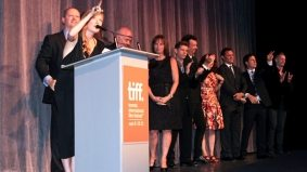 TIFF PHOTO GALLERY: Seth Rogen, Sarah Silverman and of course Sarah Polley at the gala for her new film, Take This Waltz