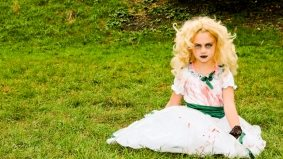 The Toronto Zombie Walk saw undead children and a wedding ceremony for a couple of brain eaters