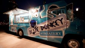 Introducing: Blue Donkey Streatery, Mississauga's new electric blue Greek food truck