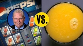 Doug Ford comes out pro-Pepsi and anti–healthy drinks in another acrimonious city hall battle pitting left versus right