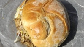 Weekly Lunch Pick: a hot mess of a porchetta sandwich at St. Lawrence Market