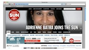 Rob Ford's press secretary, Adrienne Batra, joins (and towers over) the Sun