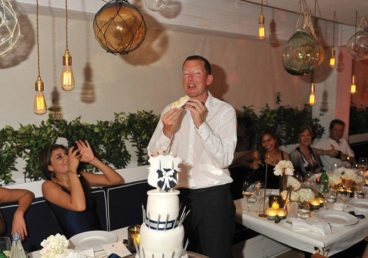 Nathaniel Rothschild and his birthday cake. (Image: Courtesy of Porto Montenegro)