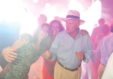 Munk on the dance floor. (Image: Courtesy of Porto Montenegro)