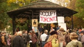 Member of the one per cent goes to St. James Park, yells at Occupy Toronto