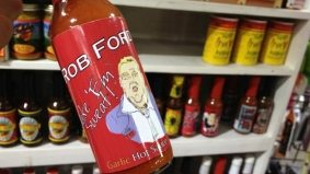 Is Rob Ford on the (hot) sauce? One crafty entrepreneur thinks so