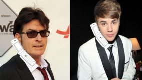 Charlie Sheen tweets real phone number to Justin Bieber (but why?)