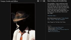 Ryan Gosling portrays the Invisible Man for the New York Times