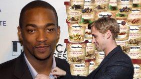 Anthony Mackie says Ryan Gosling is delicious, like a hot fudge sundae