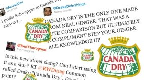"Oh, snap! Common calls Drake ""Canada Dry,"" the champagne of ginger ales"