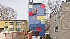 House of the Week: $349,000 for architect Rohan Walters' colourful Coxwell tower