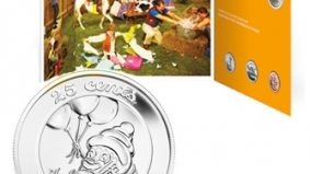 Gary Taxali teams with the Royal Canadian Mint to produce zany coin sets (caribou are not happy about this)