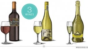 Weddings 2012: an affordable red, white and sparkling that will pair perfectly with hors d'oeuvres, dinner and dessert
