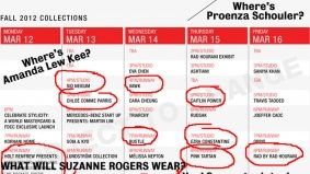 The destined-to-be-changed (four times) Toronto Fashion Week schedule has been announced