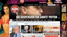The Sun's homepage has a bit of news, and a lot of scantily clad ladies