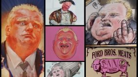 Rob Ford–themed art show is billed as non-partisan (but features a portrait of Ford as a pig)