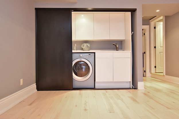 Concealed laundry 3 products pinterest for Laundry room sliding doors