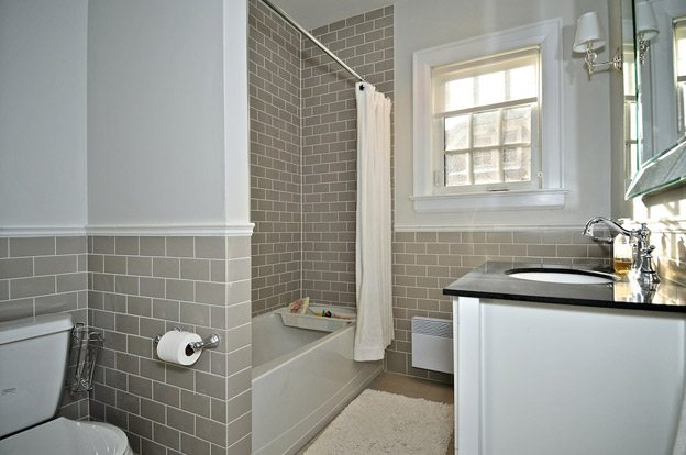 Simple Light Grey Tile Bathroom Royale Light Grey Rock