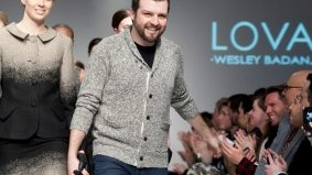 Ombré tweed, micro chenille and cobweb knits are winners at Lovas' fall/winter 2012 show