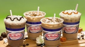 Tim Hortons' new-ish lattes now available iced (whipped cream and caramel shots optional)