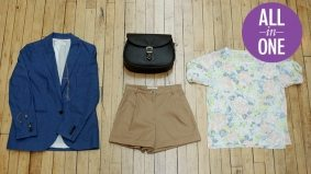 6 in 1: a feminine ensemble with masculine touches from Dundas West's Lost and Found