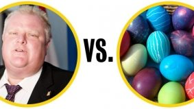 Rob Ford temporarily succumbs to debilitating Easter parade injury
