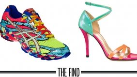 The Find: obnoxiously colourful footwear that even Justin Bieber would love