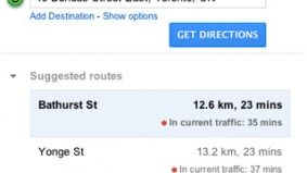 Toronto drivers take note: Google Maps monitors current traffic conditions