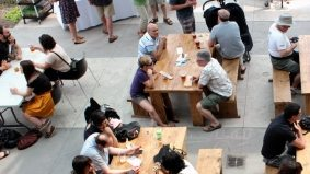 The Stop's first Beer Garden of 2012 brought out over 200 for Muskoka beer and Indonesian tacos
