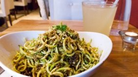 Weekly Lunch Pick: a convincing pasta Bolognese (without pasta or meat) at Rawlicious