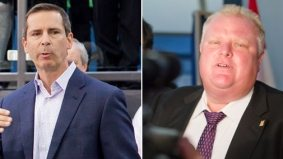 Rob Ford invites Dalton McGuinty to hang out—at a community housing building
