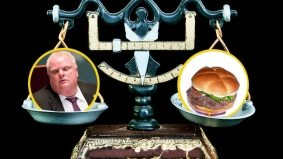 Rob Ford's weight-loss challenge comes to a fittingly cringe-worthy end
