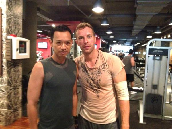 Spotted: Chris Martin getting sweaty at The Yorkville Club
