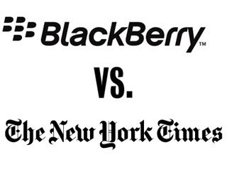 The New York Times drops its BlackBerry app
