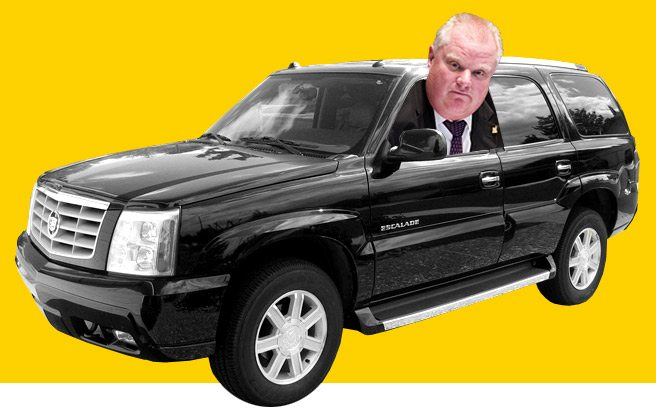 Rob Ford now drives an Escalade