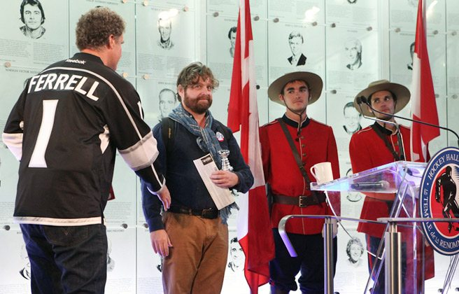 GALLERY: Zach Galifianakis and Will Ferrell meet Rob Ford at the Hockey Hall of Fame