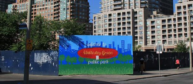 A two-acre lot at Yonge and Wellesley could house a new city park, or condo towers