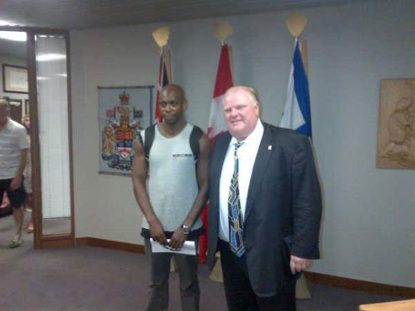 SPOTTED: Comedian Dave Chappelle hanging out with Rob Ford