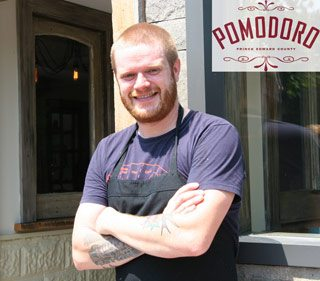Spotted: Matthew DeMille, formerly of Enoteca Sociale, now of Prince Edward County's Pomodoro