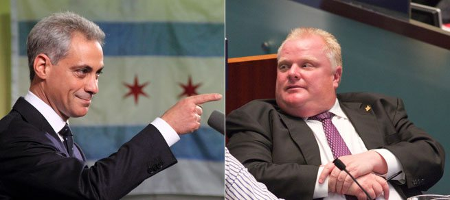 Rob Ford is going to Chicago to meet Rahm Emanuel and watch a Cubs game