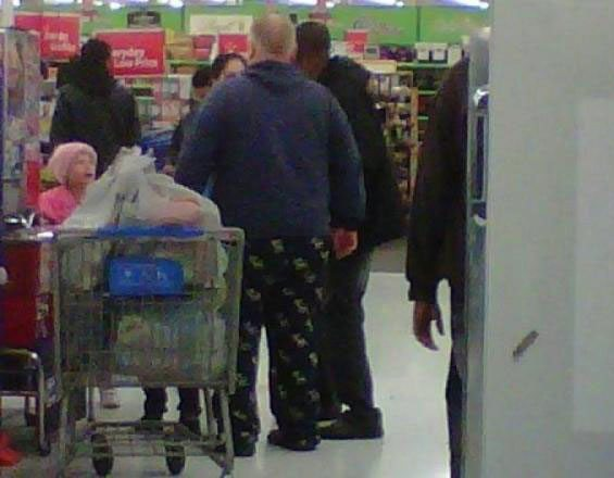 Spotted: a photo of what may be Rob Ford in his pyjamas at Walmart