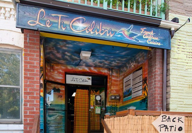 Introducing: Le Ti Colibri, Kensington Market's first French-Caribbean joint (complete with tiki hut)