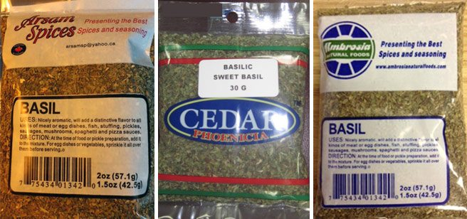 Totally Recalled: even more dried basil, packaged and in bulk