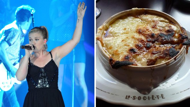 Spotted: Kelly Clarkson, lunching like a lady at La Société