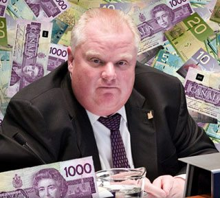 Rob Ford turns down $5,000 (and Doug Ford follows suit)