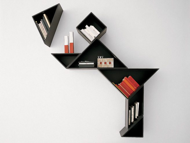 The Thing: Lago bookshelves from Suite 22 that get kinetic