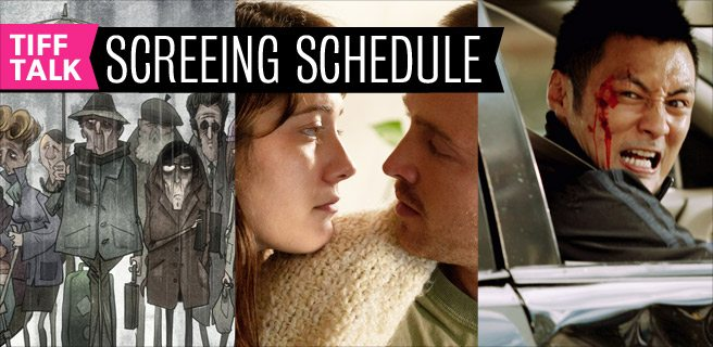 TIFF 2012 Film Schedule: Wednesday, September 12