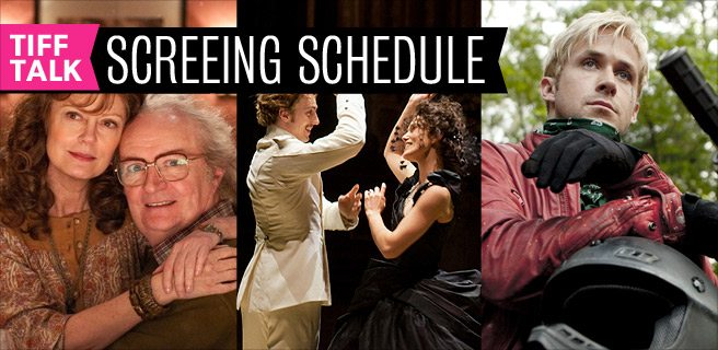 TIFF 2012 Film Schedule: Saturday, September 8